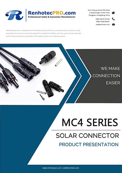 MC4 Solar Connector Catalog