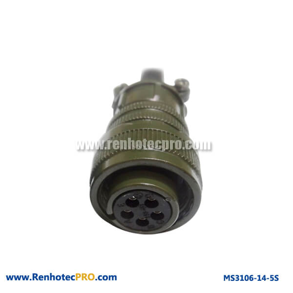5 Pins Socket MS 5015 Connector Straight Plug MS3106