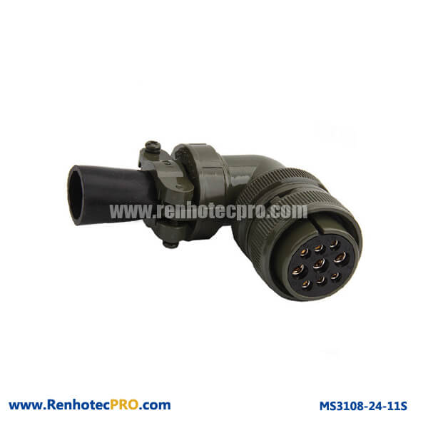 90 Degree Plug Military Specifitaion Connector MS 5015 9 Pins Socket