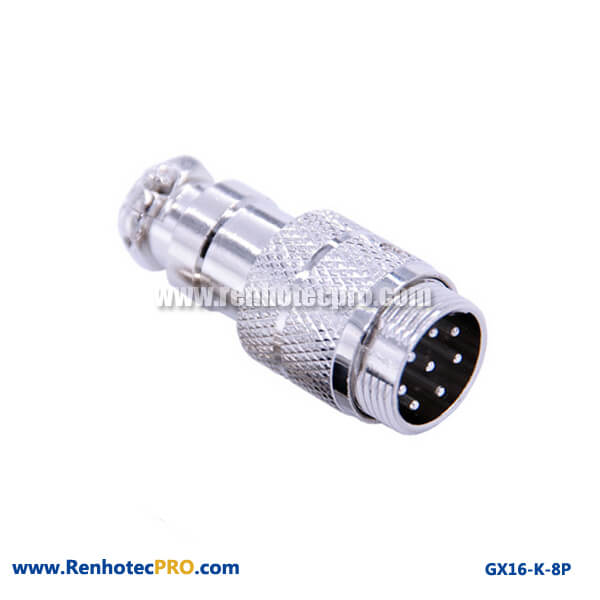 GX 16 Connector 8 Pin Plug Doking Cable Plug