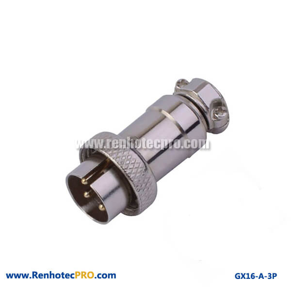Reverse GX16 2p 3p 4 pin 5 pin Electrical Aviation Plug Socket Connector Chassis