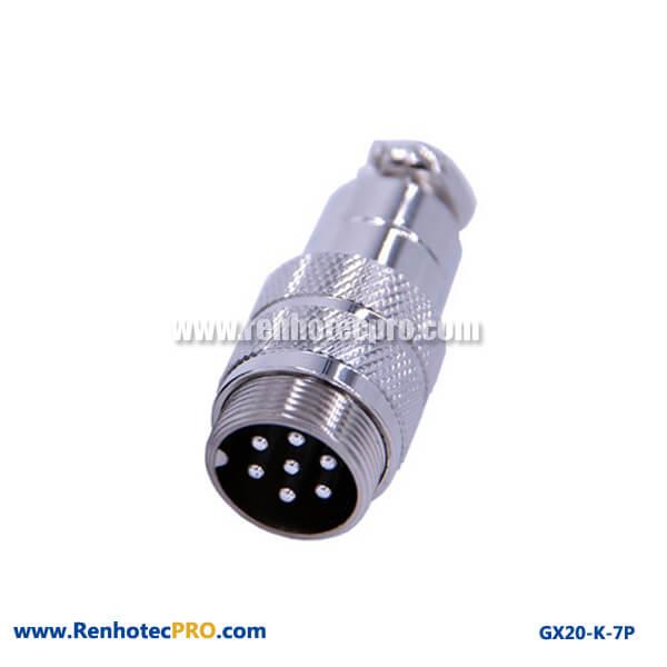 GX 20 Connector 7 Pin Doking Cable Plug Circular Connector