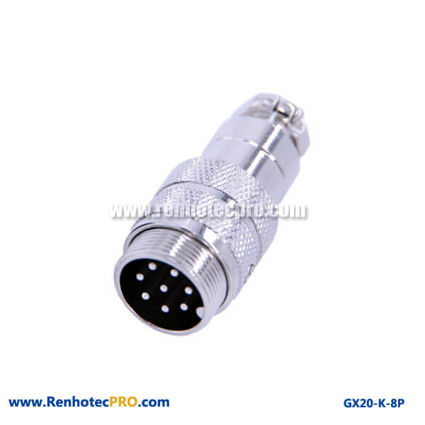 GX 20 Connector 8 Pin Plug Doking Cable Plug