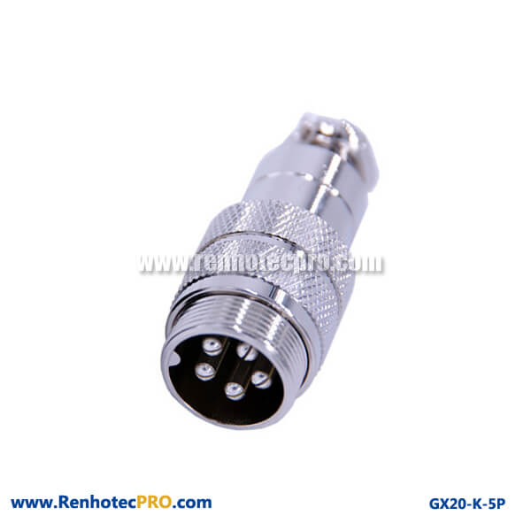 GX 20 Connector Doking Cable Plug Aviation Connector 5 Pin