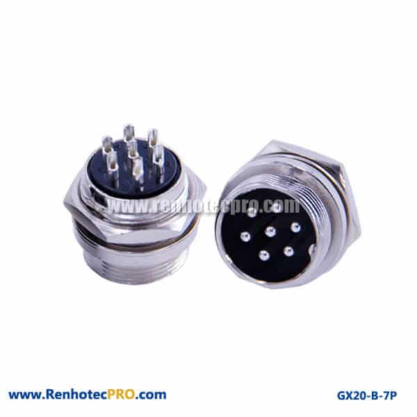 GX 20 Connector Panel Mount Socket 7 Pin Plug Industrial Connector