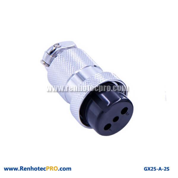 GX 25 Connector 2 Pin Socket Straight Plug Aviation Connector