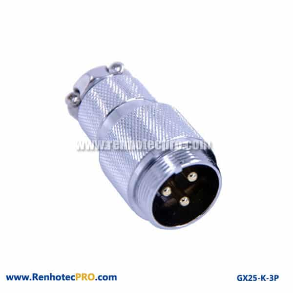 GX 25 Connector Socket 3 Pin Doking Cable Plug Aviation Connector