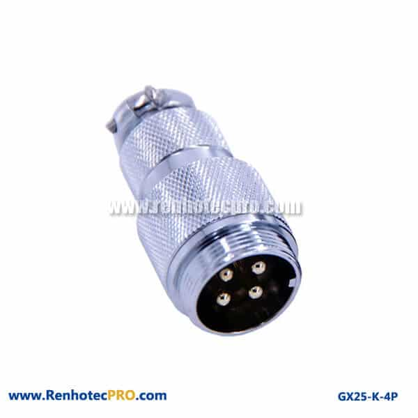 GX 25 Connector Straight Doking Cable Plug 4 Pin Electrical Connector