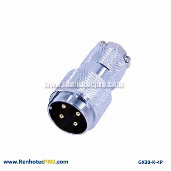 GX 30 Connector 4 Pin Doking Cable Plug Straight