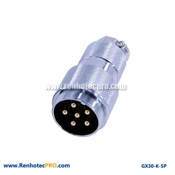 GX 30 Connector for Coaxial Cable Straight Doking Cable Plug 5 Pin