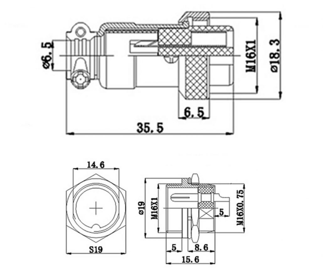 Gx 16 Aviation Connector 10 Pin Panel Mount Socket Rj45 Wiring Diagram Gx16 Standard