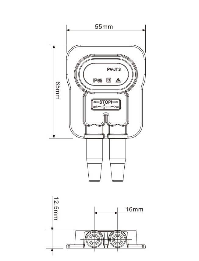 MC4-2-Rail-junction-Box for thin film