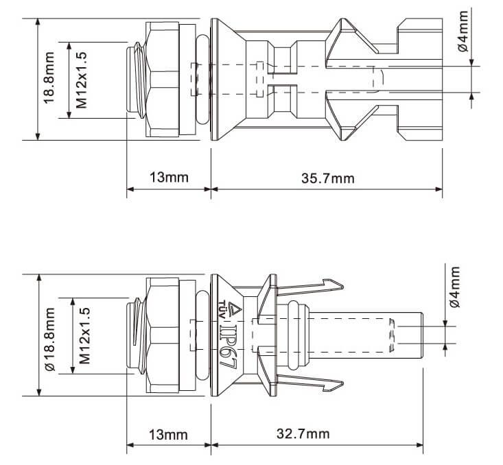 MC4-Panel-Connector