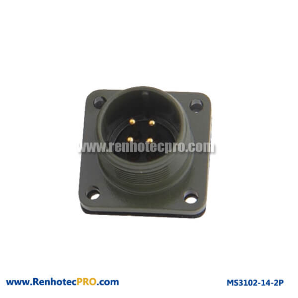 MS 5015 Connector 4 Pin Flange Mount Plug MS 3102