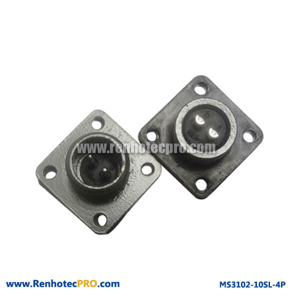 MS 5015 Connector 4Hole Flange Mount Plug MS3102