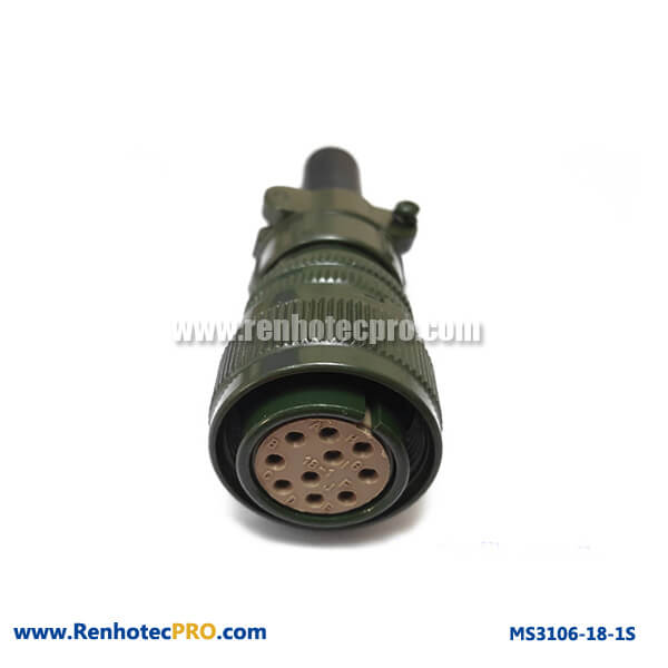 MS 5015 Connector MS3106 10 Pins Socket Cable Connector & Rubber Bushing