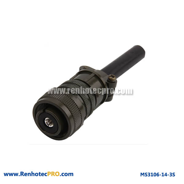 MS 5015 Connector Straight Plug Cable Connector & Rubber Bushing