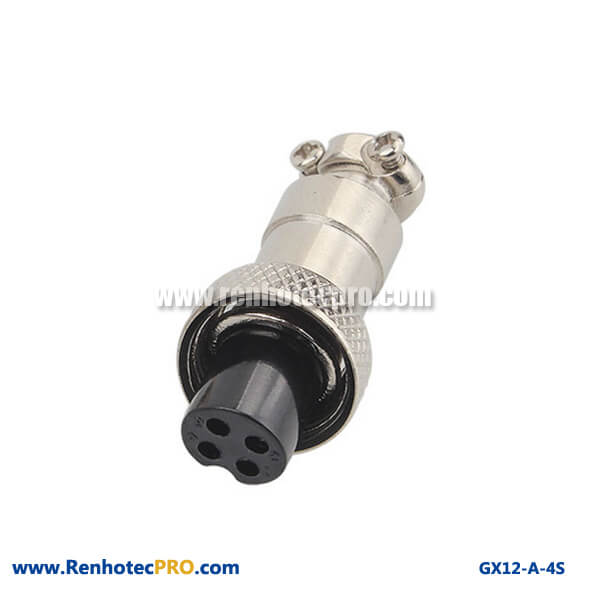 Videos GX 12 Connectors 5 Pin Straight Socket Industrial Connector