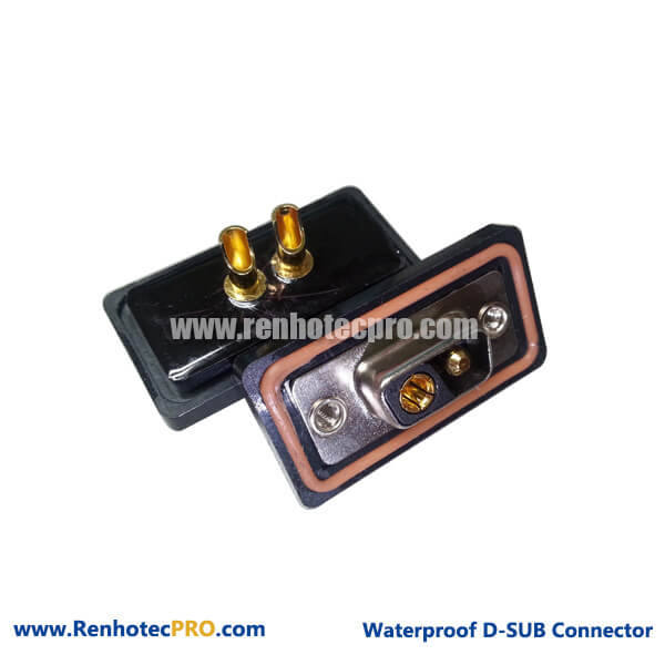 D-sub Combo Connector 2V2 Female Straight Waterproof Long Solder Pin for Cable