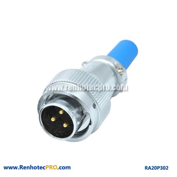 3 Pin Aviation Plug Male Circular Watertight RA20 Cable Sheath Connector
