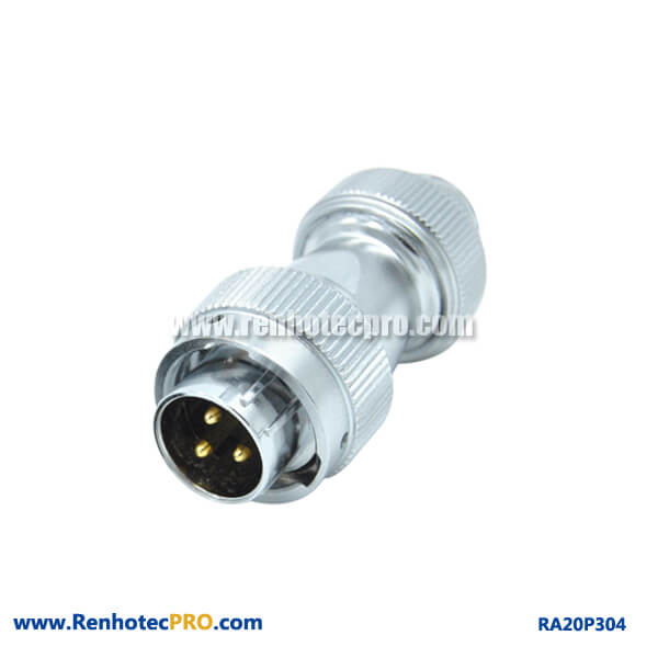 3 Pin Aviation Plug RA20 Waterproof Industry Screw Type Male Conncetor