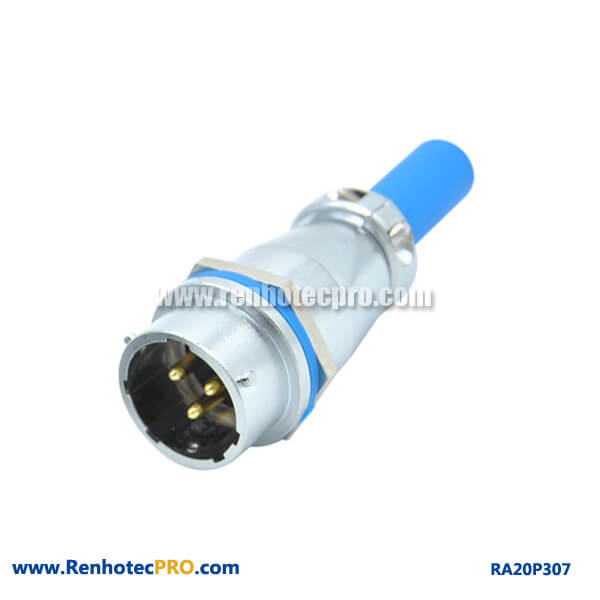 3 Pin Aviation Connector RA20 Cable Sheath Docking Waterproof Male Socket