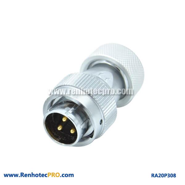 3 Pin Aviation Plug RA20 Metal Hose Circular Male Industry Connector