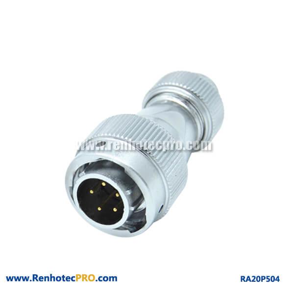 5 Pin Aviation Plug Male RA20 Screw Type Waterproof Circular Connector