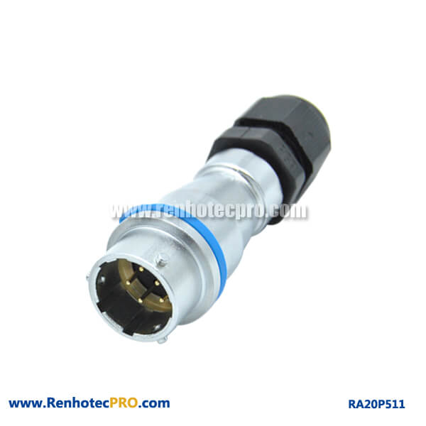 5 Pin Aviation Connector Male PG Waterproof Docking Socket Circular RA20