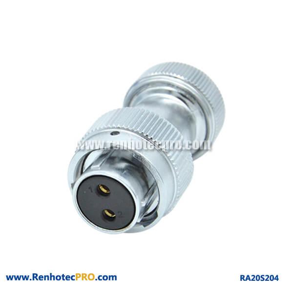2 Pin Aviation Connector Waterproof Straight Screw Locking Plug Female