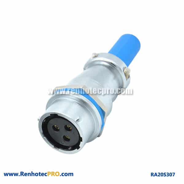 3 Pin Aviation Connector RA20 Waterproof Cable Sheath Docking Female Receptacle