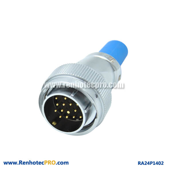 14 Pin Aviation Plug RA24 Cable Sheath Watertight Industry Male Connector