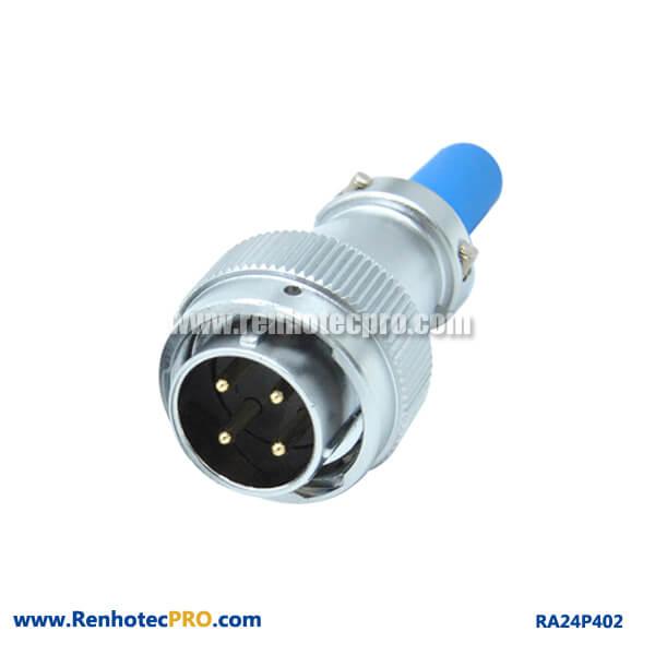4 Pin Aviation Plug Male RA24 Waterproof Cable Sheath Circular Connector