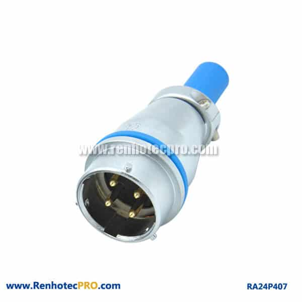 4 Pin Aviation Connector Cable Sheath Industry RA24 Waterproof Docking Receptacle Male