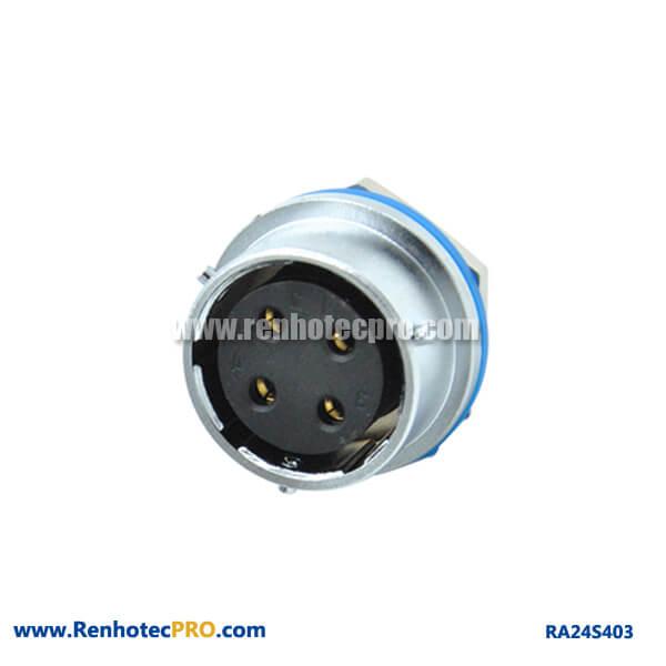 Connecteur 4 Pin Aviation RA24 Rear Bulkhead Hex Circualr Watertight Female Rceptacle