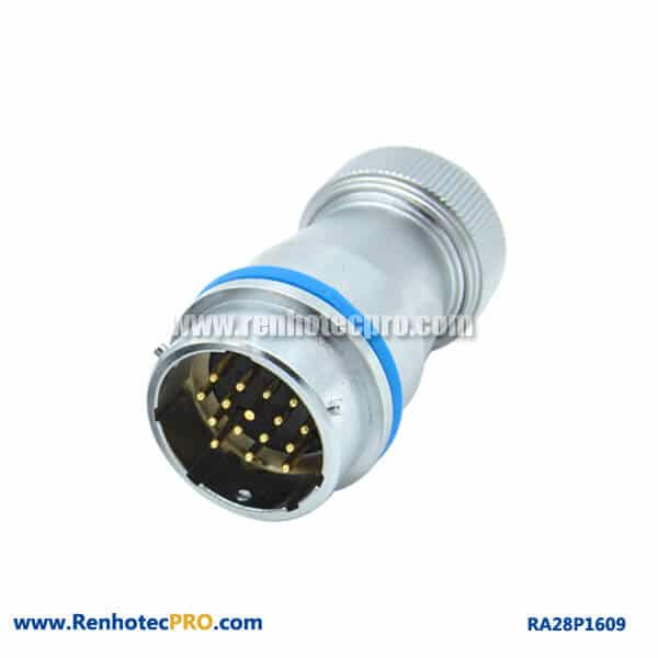 16 Pin Connector Types Screw Locking Docking RA28 Male Socket