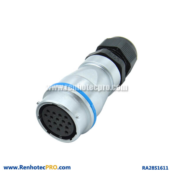 16 Pin Aviation Connector PG Waterproof Plug RA28 Circular Industry Female