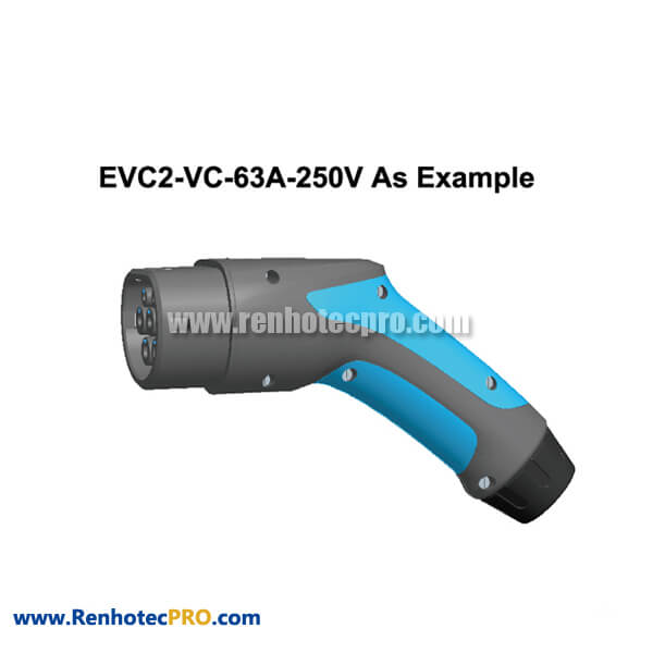EV Charging Stations Plug New Energy Connector EVC2 Vehicle End Plug