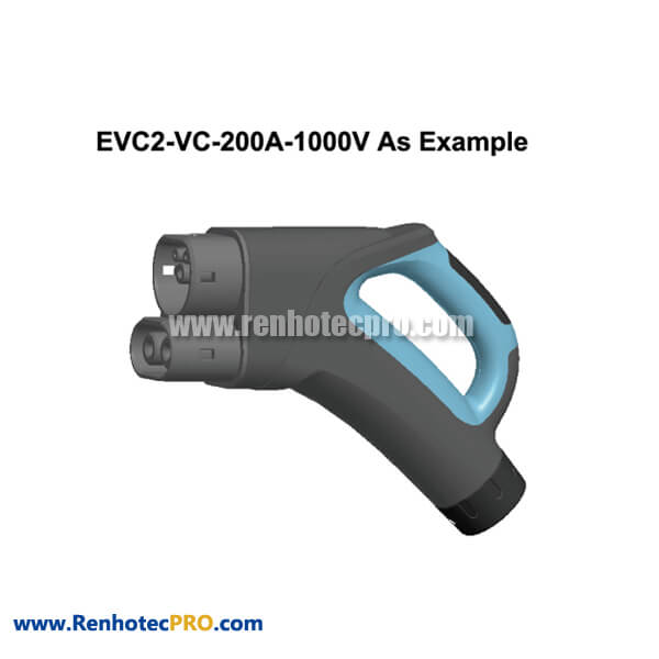 Electric Vehicle Combo Charging End Plug EVC2 200A 1000V for Electric Car