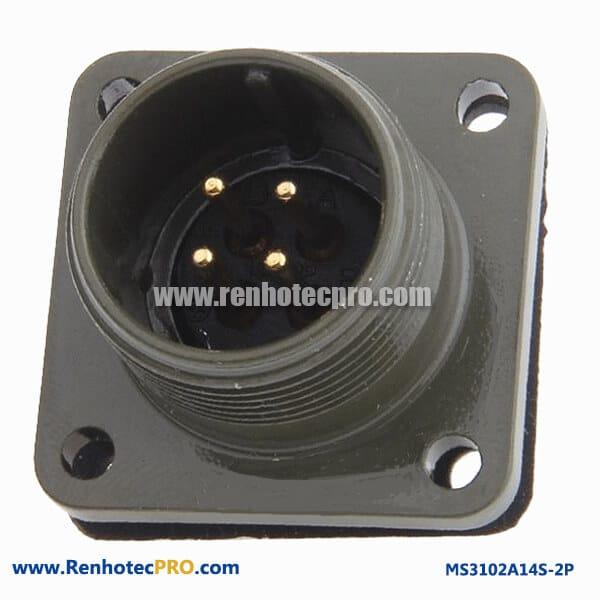 MS3102A14S-2P 14S-2 Insert Arrangement Solder Termination MS3102A14S-2P connector
