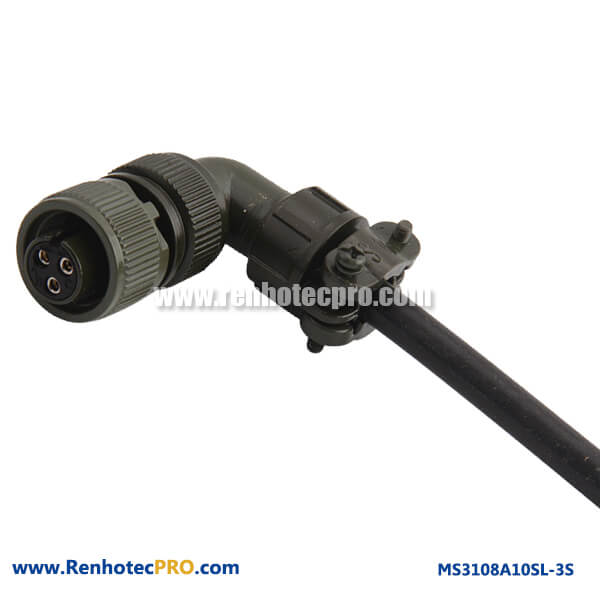 MS3108A10SL-3S Olive Drab Cadmiun Plated 3 Contacts Plug Connector With Bushing