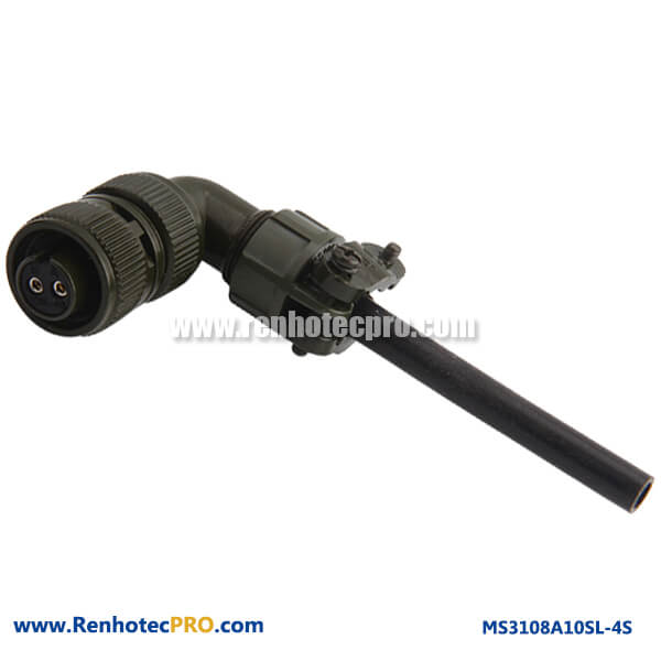 MS3108A10SL-4S Right Angle Plug 2 pin Connector