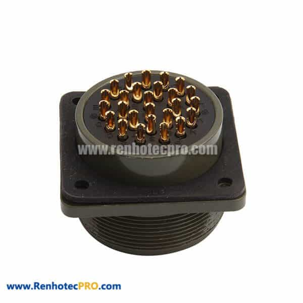 MS3102A28-12P Gold Plated Contact 26 Way Plug Military Connector
