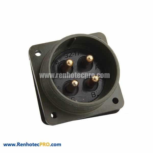 MS3102A32-17P Circular Box Mounting Receptacle 4 Pin plug connector