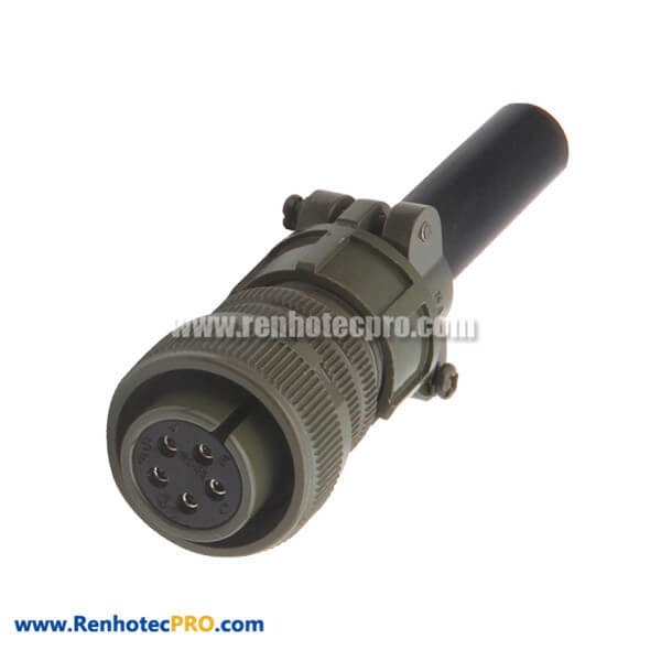 MS3106A22-12S Straight Plug Solder Socket Threaded 22-12 5015 Military 5 Contacts Connector