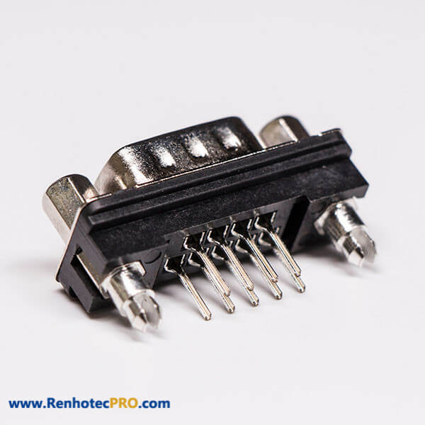 9 Pin DB Connector Standard Male Straight Through Hole for PCB Mount