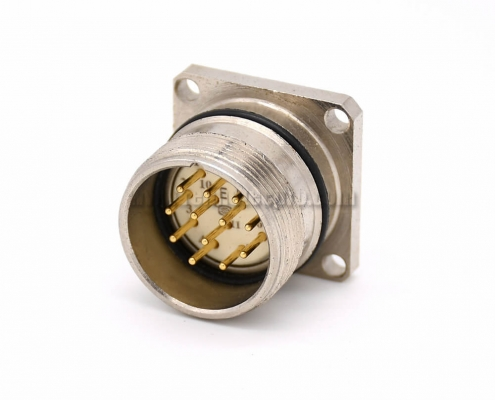 12pin connector M623 Straight Male Cable 4 Hole Flange Receptacles 12pin connector M623 Straight Male Cable 4 Hole Flange Receptacles