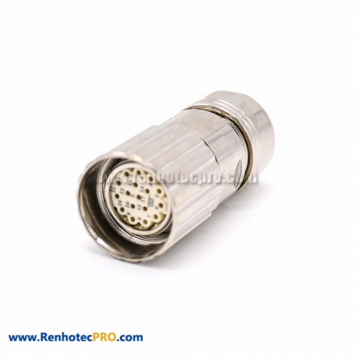 Female Plug M623 17 Pin Straight Female Waterproof Cable Connector