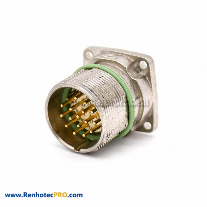 Male Connector M623 17 Pin Straight Male/Female 4 Hole Flange Waterproof Connector