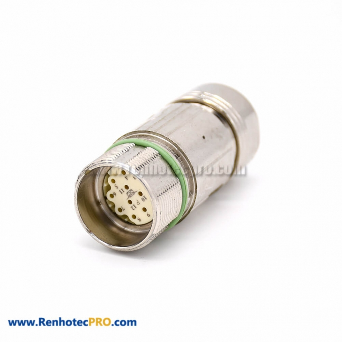 Connector Straight M623 12 Pin Female Cable Waterproof Plug